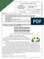 1ª Avaliação 101-102 Língua Portuguesa 3ª Etapa