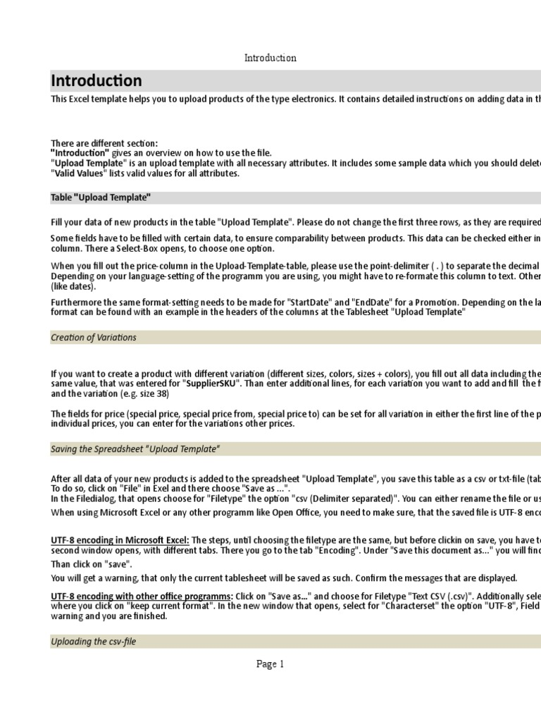 ProductCreationTemplate 2019 02-26-104922 1 | Comma Separated Values | File  Format