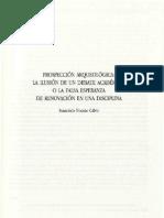 NOCETE CALVO, FRANCISCO (1997) - Prospeccion arqueológica, la ilusión de un debate académico o la falsa esperanza de renovación en una disciplina