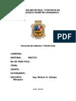 Caratula de Practicos MAT235