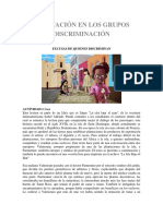 ACEPTACIÓN en LOS GRUPOS Trabajo de Convivencia y Paz Grado 11