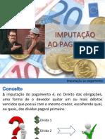 IMPUTAÇÃO AO PAGAMENTO