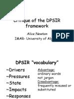 Critique Dpsir Framework An