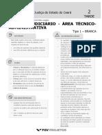 Fgv 2019 Tj Ce Tecnico Judiciario Area Tecnico Administrativa Prova