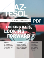 revista braz-tesol looking back looking forward