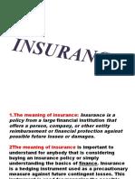 Insurance..
