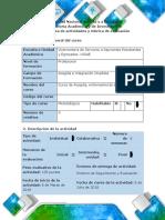 Guía de actividades y rúbrica de evaluación - Evaluación final