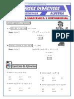 2356987452 Ecuacion Exponencial y Logarítmica Para Cuarto de Secundaria