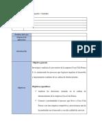 Información General Del Proyecto – Formato