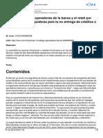 Sernac Investiga a Operadores de La Banca y El Retail Por Usar Nueva Ley de Quiebras Para La No Entrega de Créditos o Tarjetas