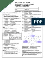 Examen Diagnóstico de Química 2019-2020