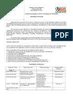 ICS Training Design for MDRRMC