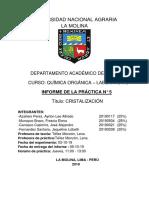 Informe Cristalización- Mesa 3 - Grupo Jueves