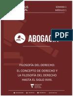 Módulos 1 Al 7, Fusionados. Filosofía Del Derecho.
