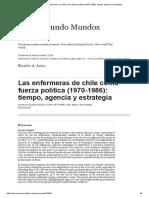 Las Enfermeras de Chile Como Fuerza Política (1970-1986)_ Tiempo, Agencia y Estrategia