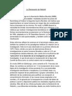 La Declaración de Helsinki surge en el seno de la Asociación Médica Mundial.docx