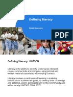 Defining Literacy