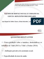 Chaves Schreider Oliveira Equipes Servico Social Desafio Gestao