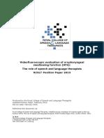 Videofluoroscopic Position Paper