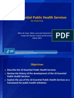 The 10 Essential Public Health Services- An Overview
