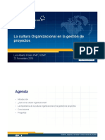 La cultura organizacional en la gestión de proyectos