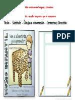 Ejercicios en Clases de Lengua y Literatura (ESTRUCTURA DEL CARTEL)