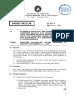 Budget Circular No 2019 2 Motor Vehicles