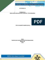 Evidencia 6 Simulacion Negociacion Clientes y Proveedores
