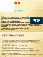 How to Set Up a Brainstorming Session