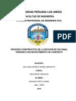 PROCESO CONSTRUCTIVO Canal Cerrado