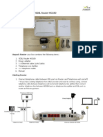 Installation Guide for VDSL Router HG180