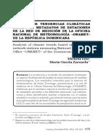 Analisis de Tendencias Climaticas Basado en Metada