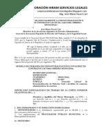 Modelo de Demanda de Desnaturalización e Invalidez de Cas Para Obrero Municipal
