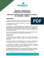 Memoria Descriptiva Corregido Agosto 2018- Edificio Varela