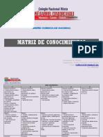 Matriz de Conocimientos - Dcn