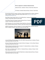 List of Top 80 Best Companies in Ambattur Industrial Estate