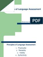 Principles of Language Assessment