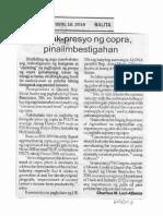 Balita, Oct. 16, 2019, Bagsak-presyo ng copra, pinaiimbestigahan.pdf