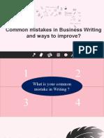 Writing Business