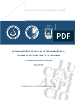 1. Plan e Estudios 2018 Arquitectura UNAH_Síntesis