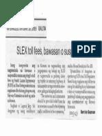 Balita, Oct. 16, 2019, SLEX toll fees, bawasan o suspendihin.pdf