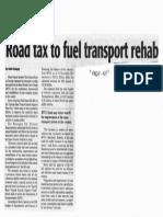 Daily Tribune, Oct. 16, 2019, Road tax to fuel transport rehab.pdf