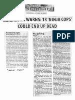 Manila Standard, Oct. 16, 2019, Magalong warns 13 Ninja Cops could end up dead.pdf