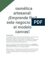 Cosmética Artesanal Modelo Canvas
