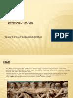 European Literature Ppt.