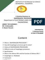 Snapdragon processors seminar