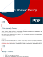 Analytics for decision making