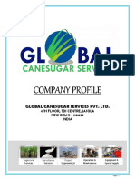 GLOBAL CANESUGAR SERVICES DISTILLERY SERVICES PROFILE