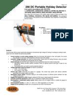 Elcometer 266 Dc High Voltage Holiday Detector Data Sheet
