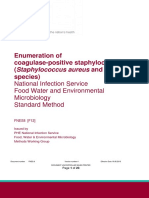 Enumeration of Coagulase-positive Staphylococci